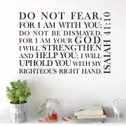 Isaiah 41v10 Vinyl Wall Decal 5