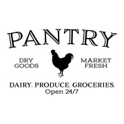 PANTRY DRY GOODS ROOSTER Vinyl Wall Decal,