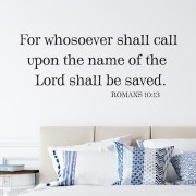 Romans 10v13 Vinyl Wall Decal