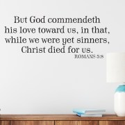 Romans 5v8 Vinyl Wall Decal 3