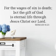 Romans 6v23 Vinyl Wall Decal