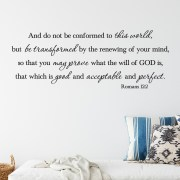 Romans 12v2 Vinyl Wall Decal 2