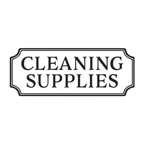 CLEANING SUPPLIES Vinyl Wall Decal