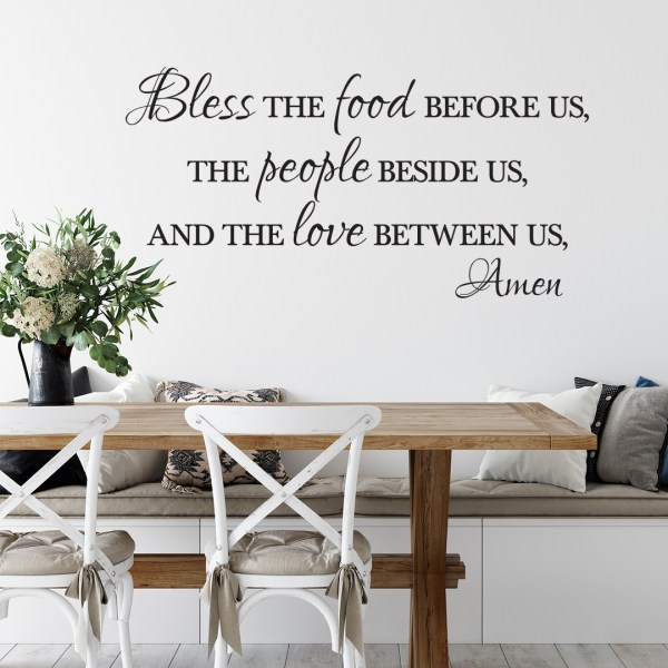 Bless the Food Before Us Vinyl Wall Decal 2