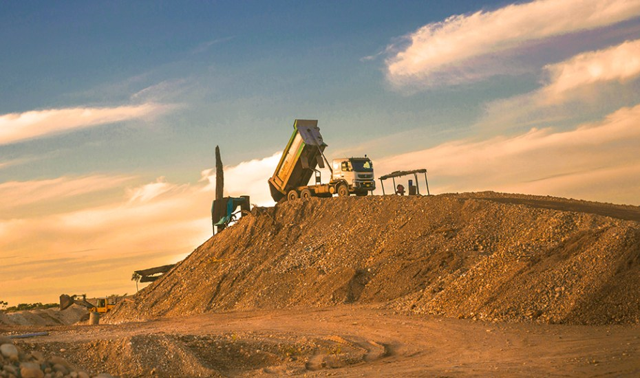 Heavy machinery mines greater quantities of gold