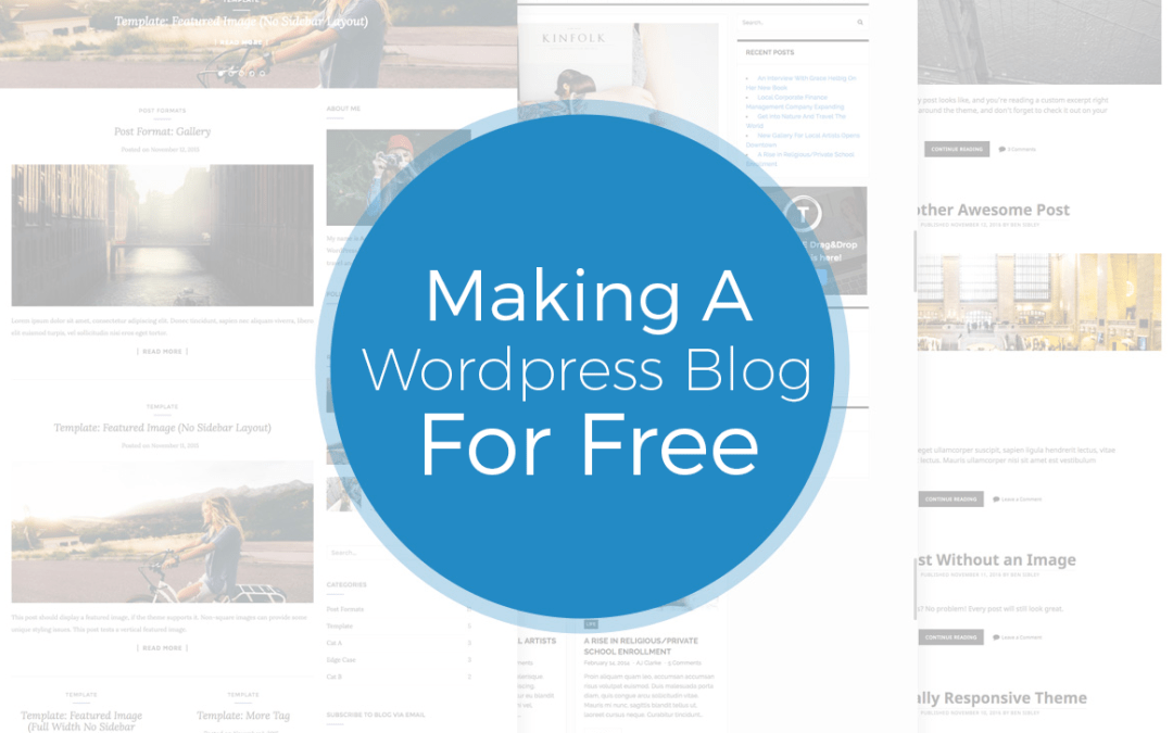 Making A Free WordPress Blog