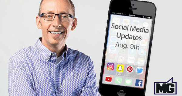Updates for Facebook, Instagram, and SnapChat through August 8th