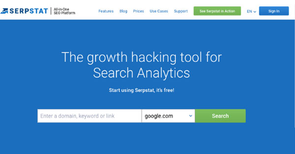 SerpStat: Keyword Research Tool
