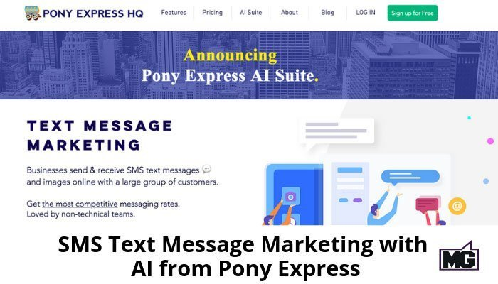 SMS Text Message Marketing with AI from Pony Express