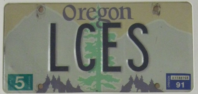Gleason LCES License Plate