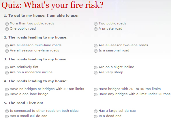 Quiz: What's your fire risk? - Wildfire Today