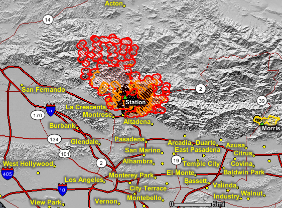 Azusa Canyon Fire Map.Station Fire Updated Map Aug 30 2 16 A M Wildfire Today