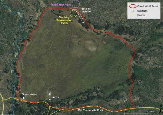 Big Meadow Prescribed Fire Map. NPS