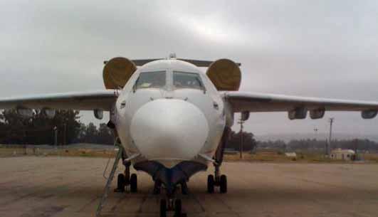 BE-200 air tanker at Santa Maria, California