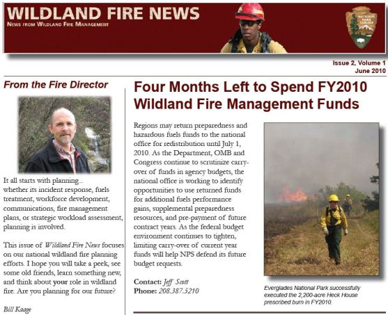 National Park Service wildland fire newsletter