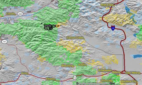 Davis fire map August 28 2010