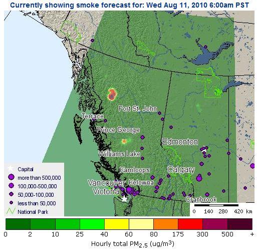 smoke forecasting system western Canada