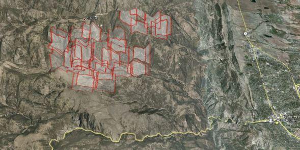 3-D map of Fourmile fire near Boulder