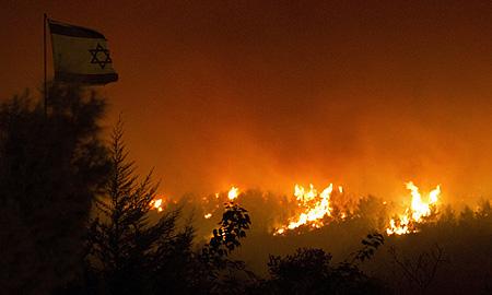 Flames Israel night