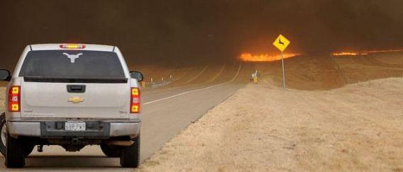 Fire on MF136 in Texas