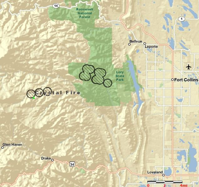 Crystal Colorado Map.Update On Crystal Fire In Colorado With Map