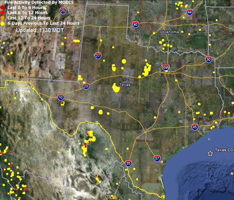 Map Of Texas Fires
