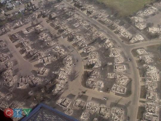 Slave lake burned homes