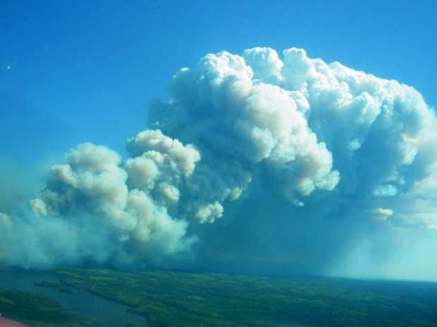 Pagami Creek fire September 11, 2011.