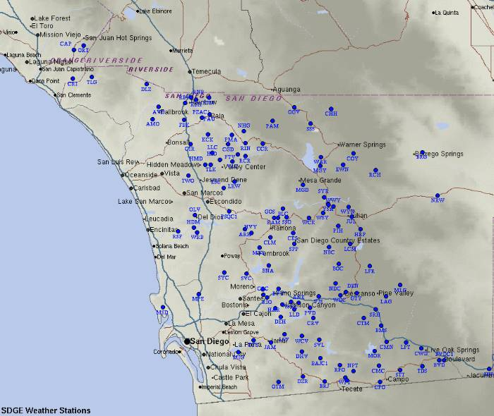 SDG&E weather stations