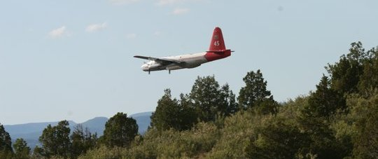 Tanker 25, a P2, on the Whoopup fire