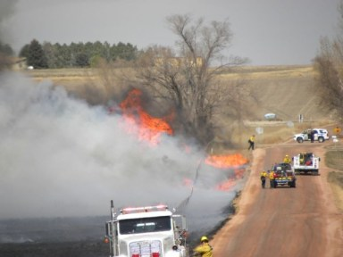 Fires in MT, CO, and SD on Red Flag day; firefighter injured in rollover