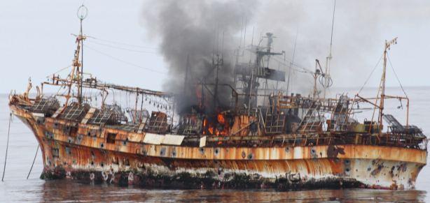 Coast Guard sinks ship