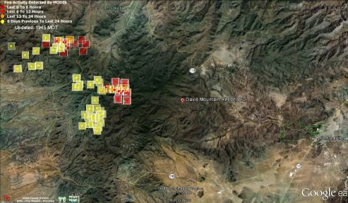 Map_Jeff Davis County fire