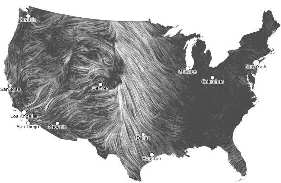 Animated Wind Map