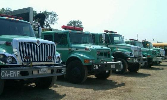 Engine strike team, California, Oil Creek Fire, Wyoming