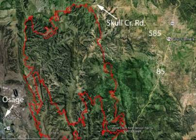 Wyoming: Oil Creek Fire doubles in size