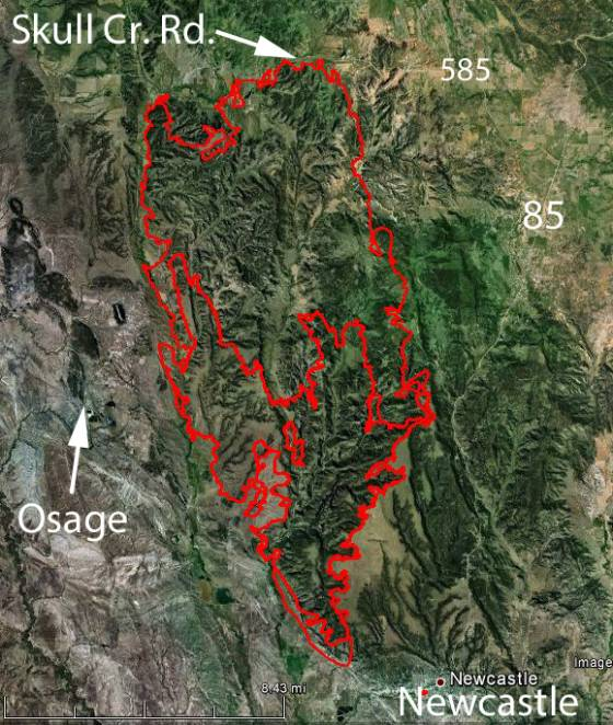 Oil Creek Fire map