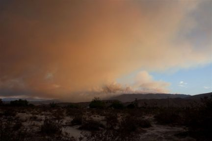 Firefighters make progress on Vallecito Fire northeast of San Diego