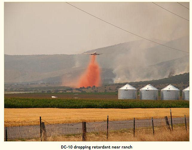 DC-10 drops on Idaho fire