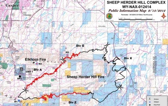Map Sheep Herder Hill Fire 09-13-12