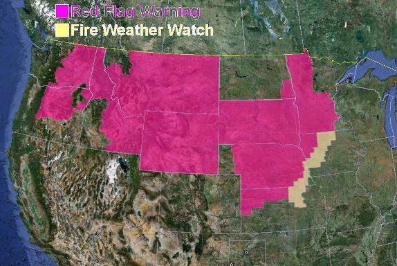 Red Flag Warnings, September 10, 2012