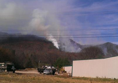 Hawkins Co Fire in Tn, Photo by Hawkins Co EMA