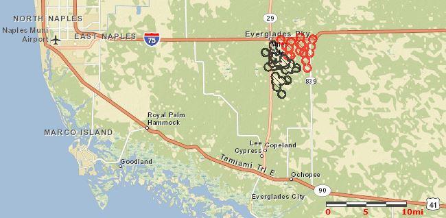 Map of Huckabee Fire