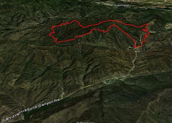 Perimeter map of Powerhouse Fire