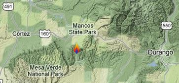 Map of Weber Fire