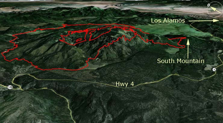 Map Thompson Ridge Fire