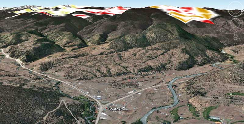 3-D Map of West Fork Fire,