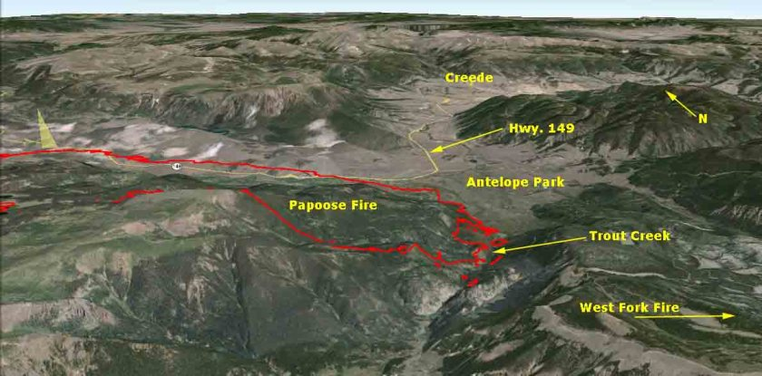 Map of Papoose Fire