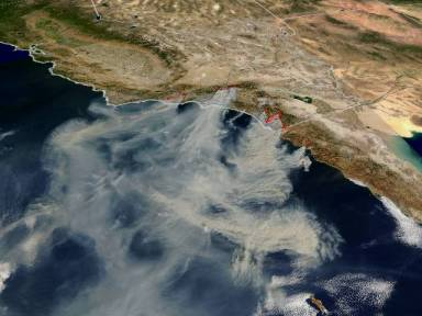 California fires October, 2003