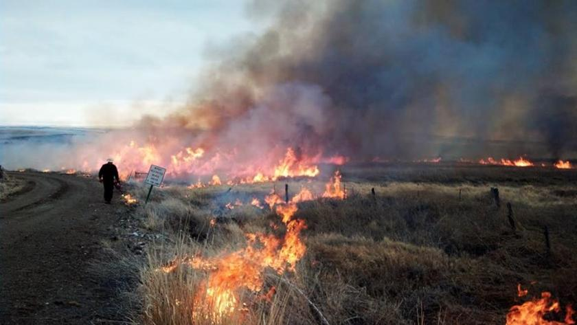 Rx fire at Malheur Nat'l wildlife Refuge. USFS photo by Shane Theall.
